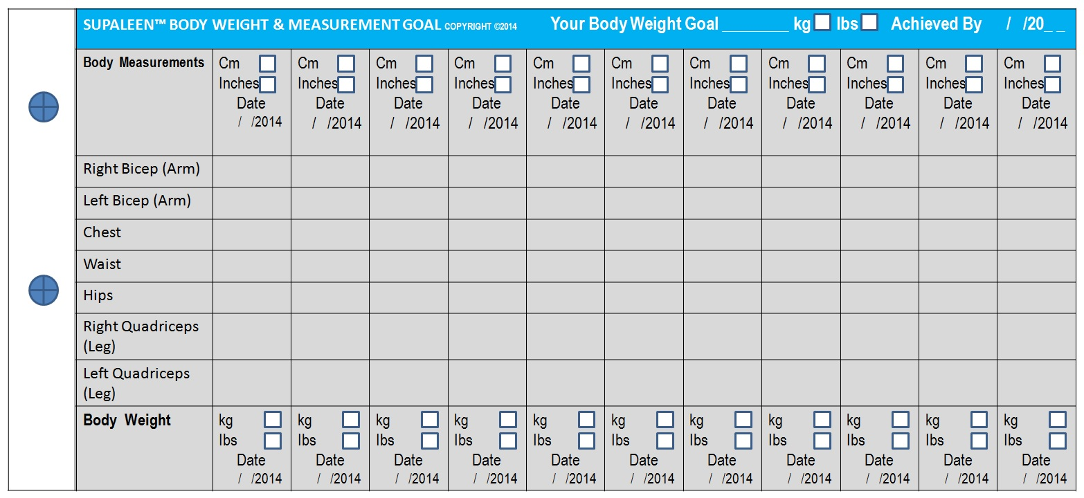 supaleen body weight body measurements goal